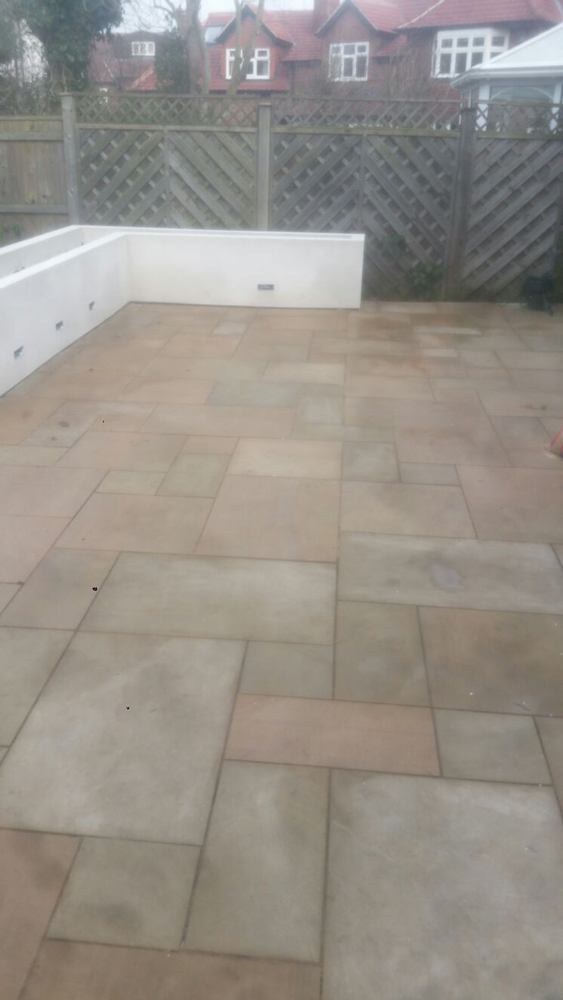 Flagstone patios County Durham, here is a newly laid flagstone patio